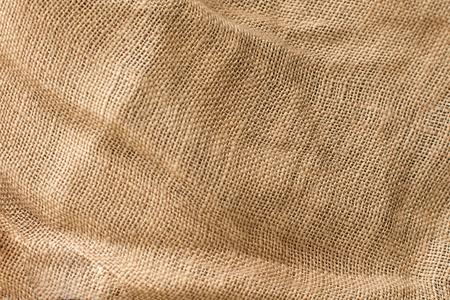 Textura de lino de tela natural, color beige, material sin blanquear para el diseño Foto de archivo