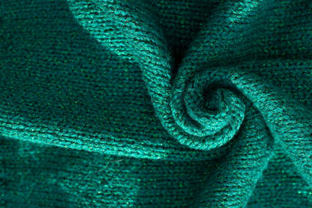 Tidewater green color background. Material in trend color 2021