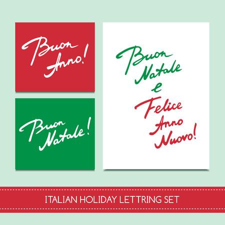 Set italian christmas cards royalty free cliparts vectors and set italian christmas cards stock vector 65695068 m4hsunfo