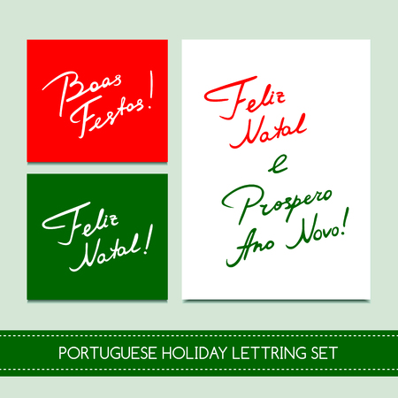 Set Portuguese Christmas cards
