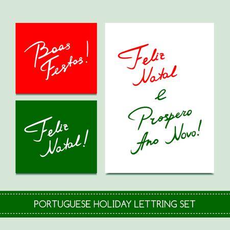 boas: Set Portuguese Christmas cards