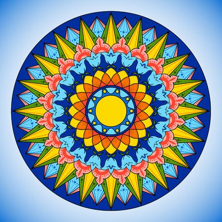 Bright color wheel pattern 일러스트