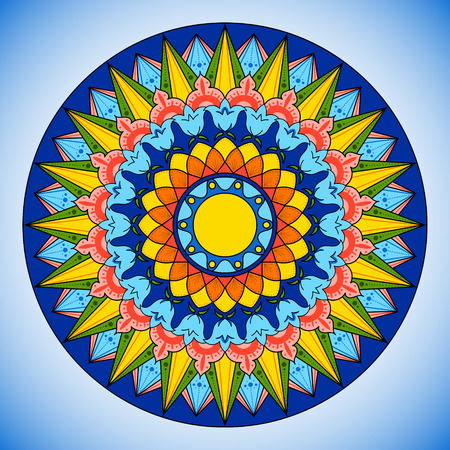 Bright color wheel pattern Illustration