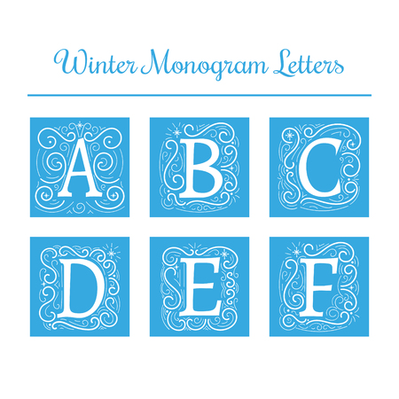 initial: Winter initial letters Illustration