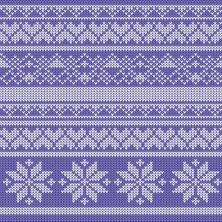 knitted: Winter knitted pattern Illustration