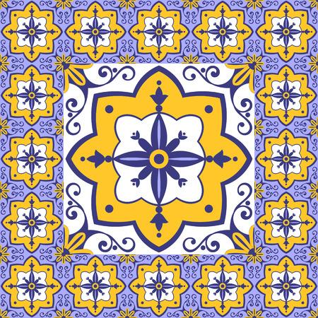 edwardian: Flowers pattern tiles floor