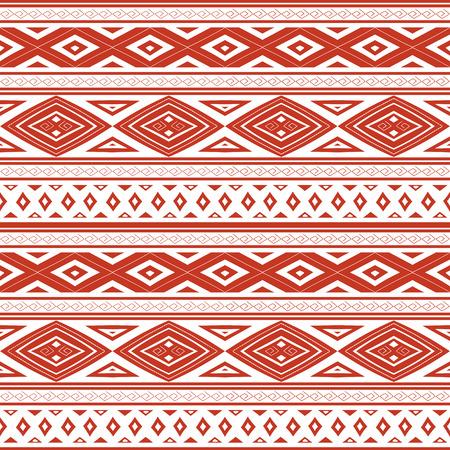 部族のパターンのシームレスなベクトル。民族のペルーのケチュア語の伝統的な要素とデザインをパターンします。