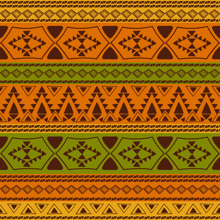 Tribal pattern seamless vector. Ethnic african or aztec boho print design