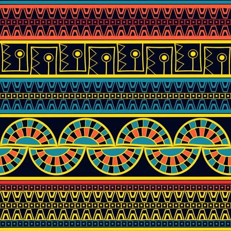Peruvian pattern seamless vector. Tribal pattern. Peru ornament for fabric, wrapping paper and background. Ilustração