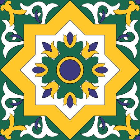 パターン要素の分離設計ベクトル テクスチャを並べて表示します。ポルトガル語アラビア語、メキシコのタラベラ タイル azulejo、スペイン、イタリ  イラスト・ベクター素材