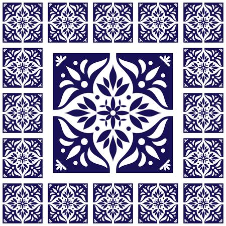 Fliesen Boden Vintage Muster Vektor Mit Keramik Zementfliesen - Fliesen maurisch
