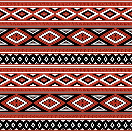 Vector modèle tribal sans soudure. Impression péruvienne avec des éléments traditionnels quechua. Contexte pour le tissu, le papier peint, le papier d'emballage et le modèle de carte.