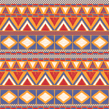 Tribal pattern vector seamless. African or native american print. Ethic texture. Repeating background for fabric, wallpaper, wrapping paper and boho card template.