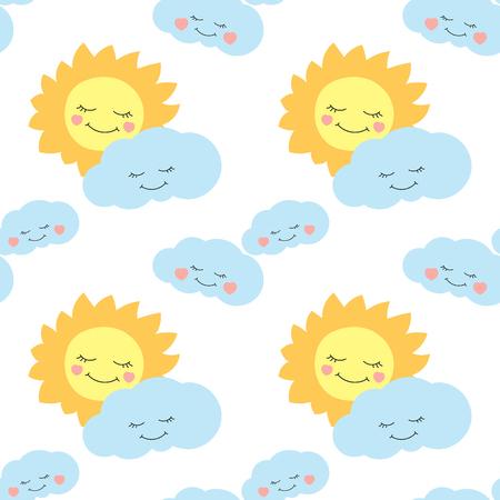 Lindo Bebé Luna Patrón De Vectores Sin Fisuras. Los Niños Imprimen ...