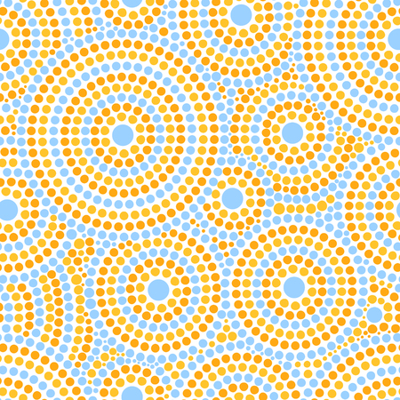 baby and mother: Summer dot pattern vector seamless. Abstract geometric dotted circles print. Design for fabric, wallpaper, wrapping paper or card templates.