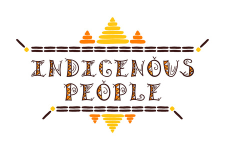 International Day of the World Indigenous People illustration vector. Typography tribal template of card, web banner or poster.