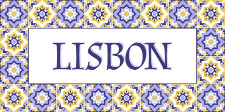Lisbon travel banner vector.