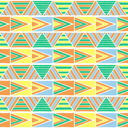 Summer African Pattern Vector Seamless Geometric Triangle Texture Awesome African Pattern