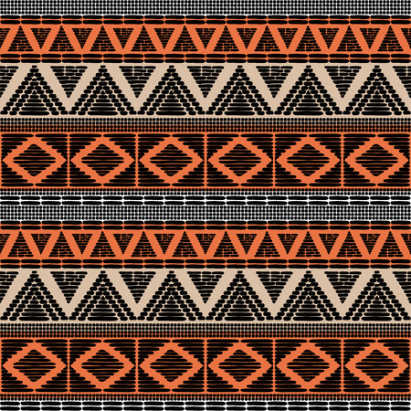 Tribal pattern vector seamless. African print with in ethnic colors. Background for fabric, wallpaper, wrapping paper and card template. Vektorové ilustrace