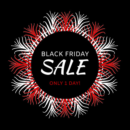 Black Friday sale banner vector. Promo background for special offer label, fashion store flyer, online shopping or holiday weekend tag. Illustration