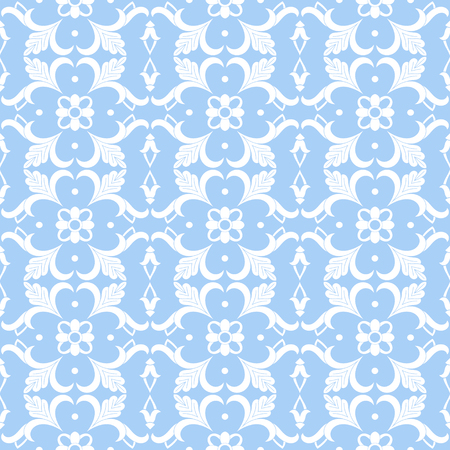 Baroque floral pattern vector seamless. Pastel colors victorian background texture. Vintage flower ornament design for wallpaper, textile, fabric, backdrop, carpet.