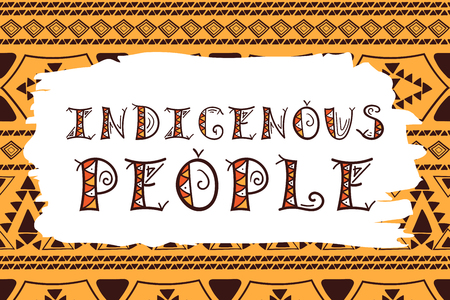 International Day of the World Indigenous People illustration vector. Typography ethnic template for card, web banner or poster.