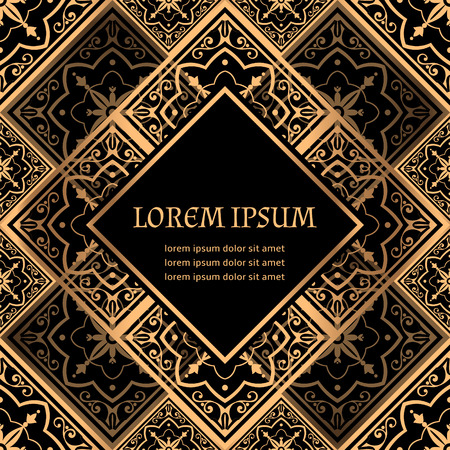 Luxury background vector. Golden royal pattern. Victorian frame design for beauty spa, wedding ceremony, greeting card, anniversary template, menu covering, christmas and new year concepts.