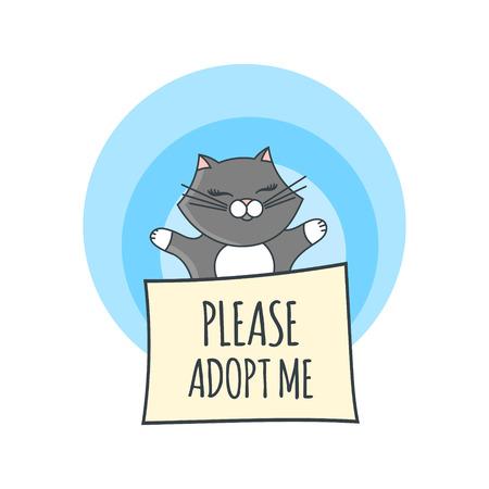 International Homeless Animals Day Illustration Vector. Cute ...