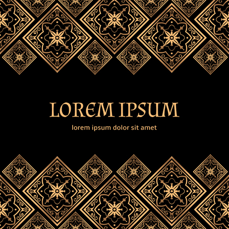 Luxury background vector. Golden royal pattern. Vintage design for beauty spa, wedding ceremony, greeting card, anniversary template, menu covering, christmas and new year concepts, yoga wallpaper.