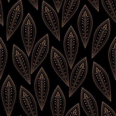 Luxury background vector. Peacock feathers royal pattern seamless. Oriental vintage design for yoga wallpaper, beauty spa salon, bridal shower, save the date, wedding party, holiday christmas. Ilustração