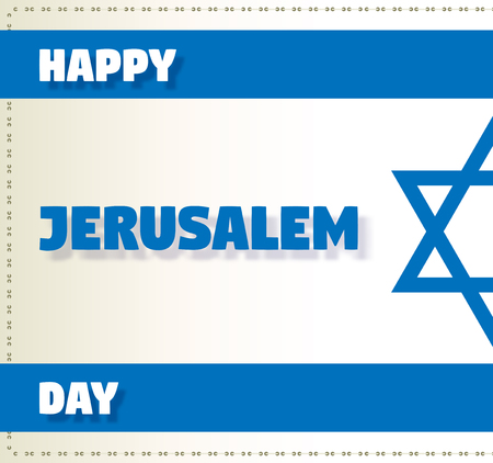 zionism: Vector greeting card for Happy day of Israel.