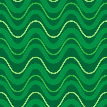 Seamless pattern of green waves. Pattern on green shadows. Vacation concept.