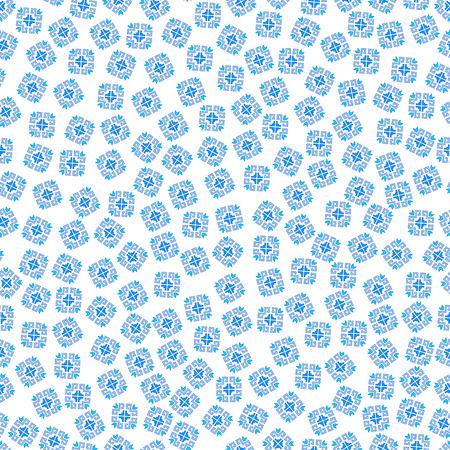 Seamless geometric pattern of the composite pattern with traditional elements of the Chuvash culture on a white background. illustration