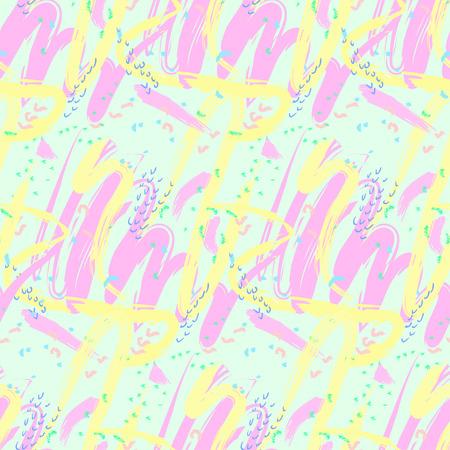 arbitrario: Modelo abstracto inconsútil de diversas formas frotis colores pastel suaves de manera arbitraria. Fondo. ilustración vectorial Vectores