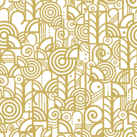 A randomly colored pattern on a white background. Illustration