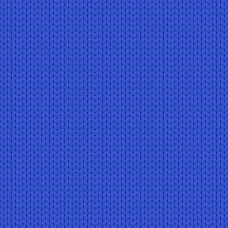 Seamless vector simple knitted blue pattern. 矢量图像
