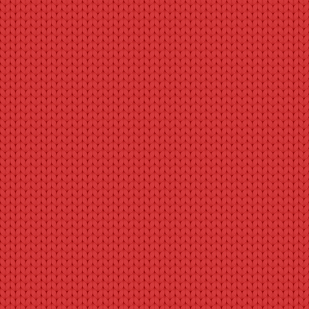 Seamless vector simple knitted red pattern. 矢量图像
