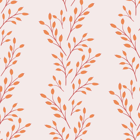 Seamless natural autumn pattern. Vector illustration for thanksgiving day.