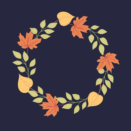 Vector background. Round seasonal frame.