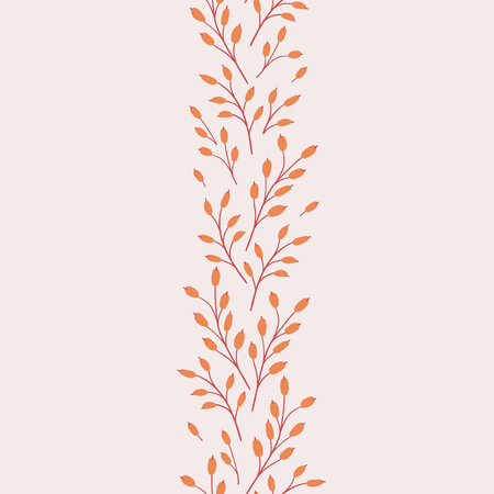 Vector seamless pattern. Natural seasonal illustration drawn by hand. 矢量图像