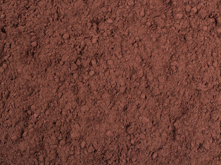 Texture background. Cocoa  chocolate brown powder Top view Stock Photo