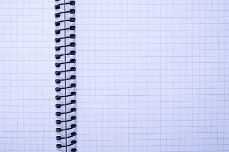 top view of a open notebook  school notebooks with a spiral spring, office notepad flat lay