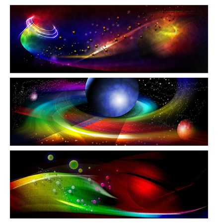 space area: colorful banner