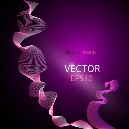 deflection: Vector artistic fractal ribbon design. Moving colorful abstract background for poster, flayer, banner, cover, business card, presentation, Illustration. Art fractal concept.