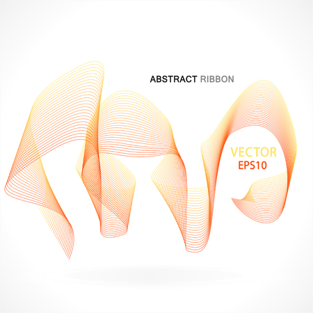 Vector abstract fractal ribbon design. Moving colorful artistic background for poster, flayer, banner, cover, business card, presentation, Illustration. Art fractal concept.