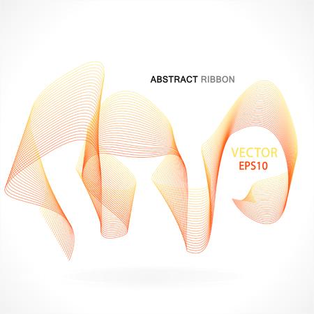 deflection: Vector abstract fractal ribbon design. Moving colorful artistic background for poster, flayer, banner, cover, business card, presentation, Illustration. Art fractal concept.