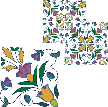 antic: hand-drawned tile from Sicily