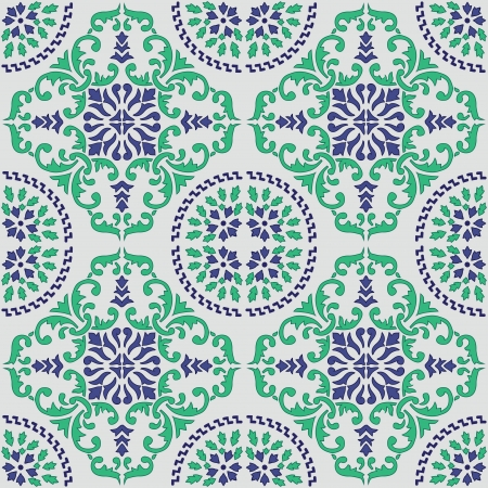 seamless vector pattern made from original sicilian tile