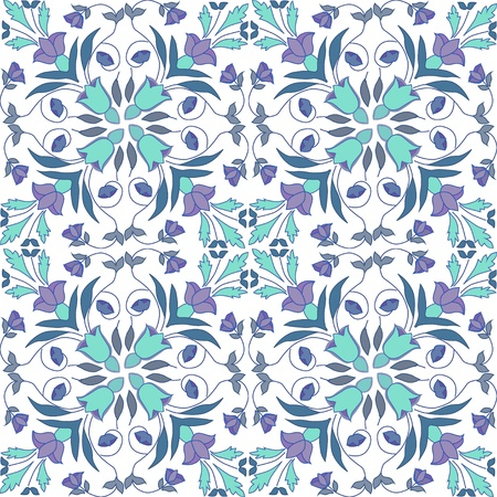 antic: seamless vector pattern made from original sicilian tile