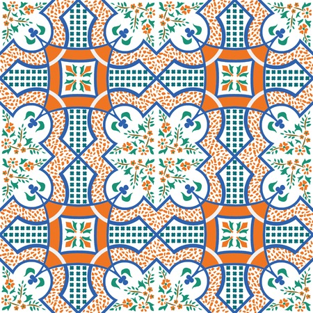 set of 4 seamless mediterranean patterns photo